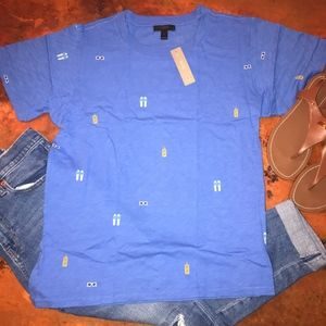 NWT J Crew Beach Day T-Shirt - L